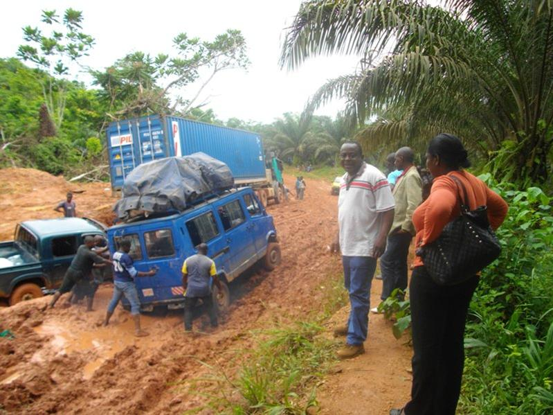 The road leading to SGSOC in Mudemba, South Region of Cameroon. Photo/Elias Ngalame