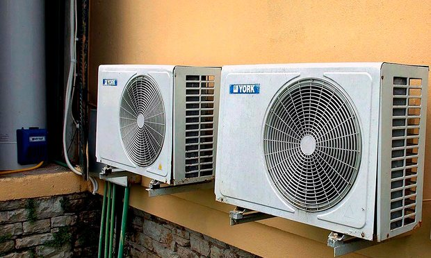 HFCs are mainly used in air-conditioning systems in rich countries. Photograph: Dimitra Louvrou/EPA