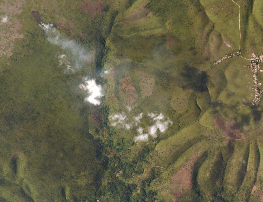 A small burn at the edge of cleared pastureland captured on March 3, 2016. Image ©2016 Planet Labs, Inc. cc-by-sa 4.0.