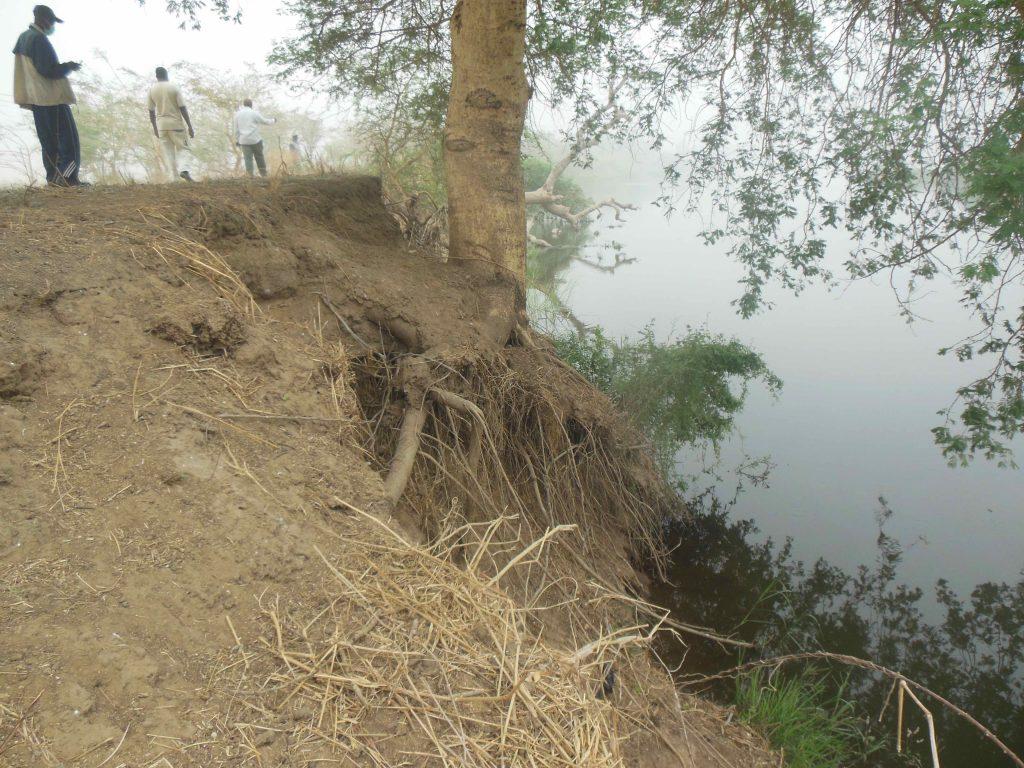 Erosion un peu régresser
