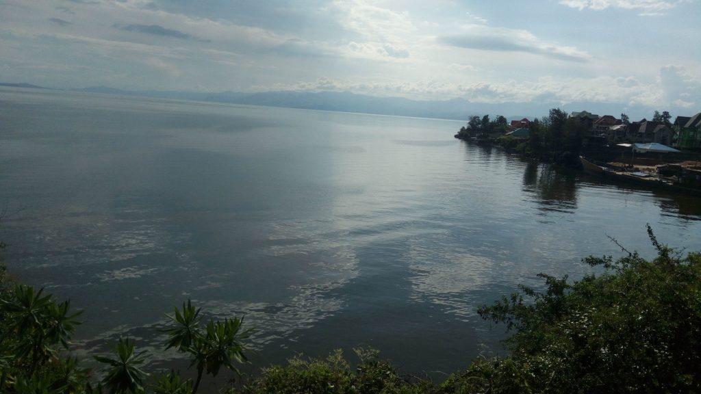 Vue du Lac Kivu à Goma en RDC