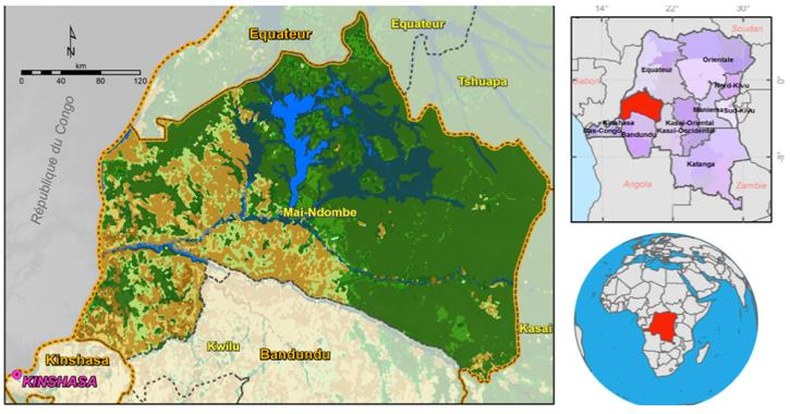 Mai-Ndombe's map in DRC. Photo/FCPF