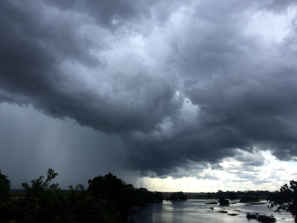 A storm over Lac-Tele Community Reserve. Photo credit/WCS