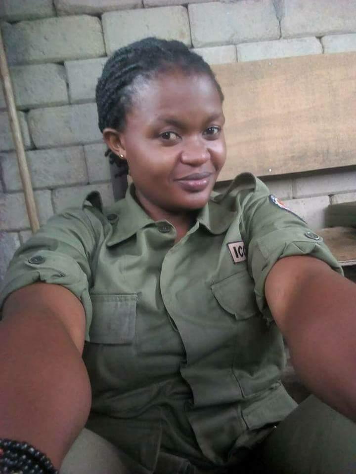 Rachel Katumwa, 25 ans, ecogarde de Vorunga décédée le 11 mai lors de l'attaque de leur convoi
