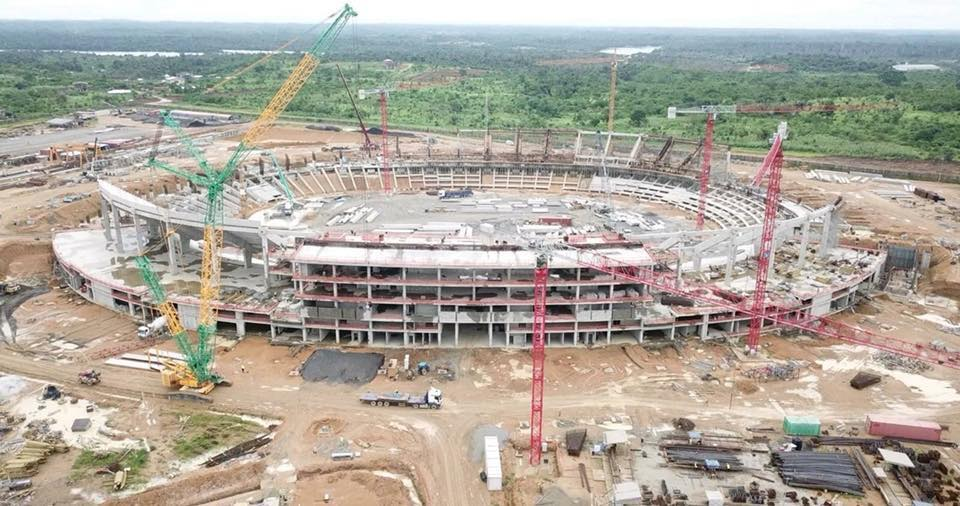 Cameroon is hosting the 2019 African Cup of Nations. Experts argue that considerable forest has been cut down in place of support infrastructures such as stadia, hotels, and training grounds. Photo/InfoCongo