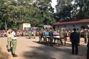 Funérailles de Rachel Katumwa, ex-écogarde de Virunga, décédée en mai dernier lors de l'attaque de son convoi.